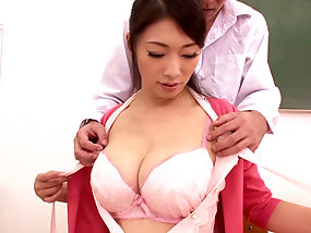 Japanese Teacher Seduces Man And Has Doggystyle Fuck With Him